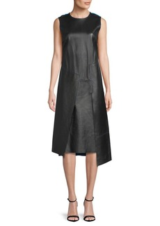 DKNY Sleeveless Leather Dress