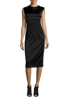 DKNY Sleeveless Mixed-Media Midi Dress