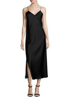 DKNY Sleeveless Reversible Satin Slip Dress
