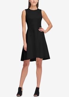 Dkny Sleeveless Scuba Fit & Flare Dress, Created for Macy's