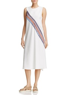 DKNY Sleeveless Stripe-Detail Dress