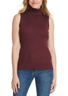 Dkny Sleeveless Mock-Neck Sweater