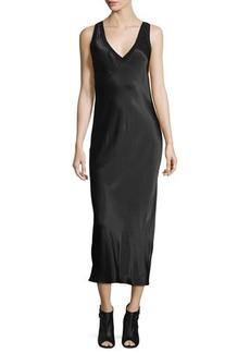 DKNY Sleeveless V-Neck Midi Dress