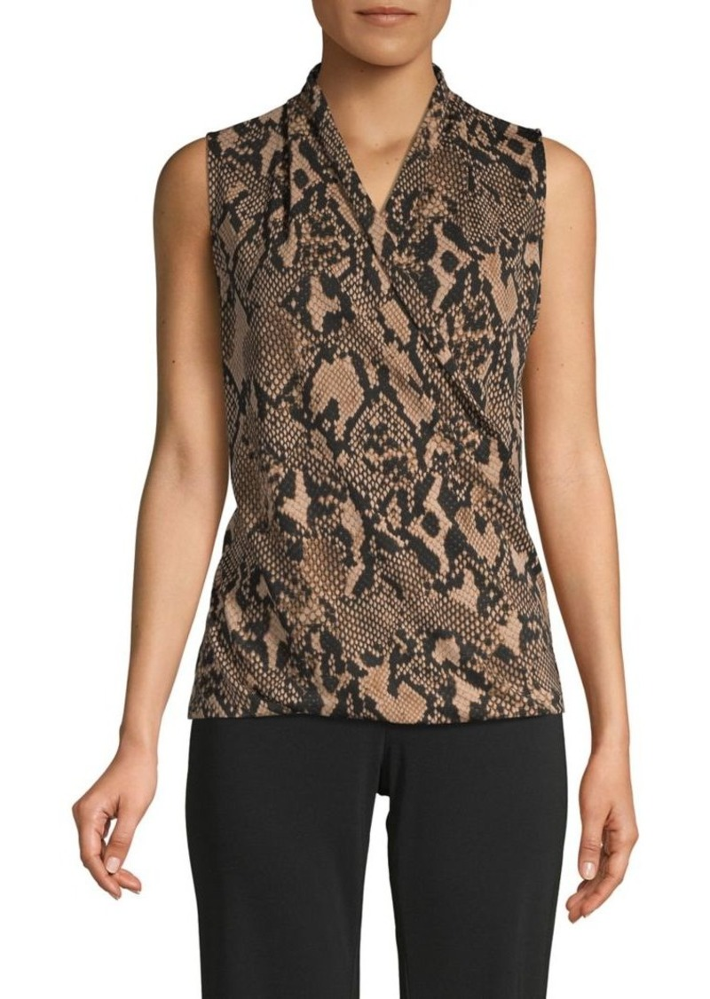 DKNY Donna Karan New York Snakeskin-Print Sleeveless Top