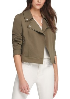 Dkny Soft Textured Moto Jacket