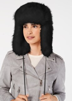 Dkny Solid Faux-Fur Trapper Hat, Created for Macy's