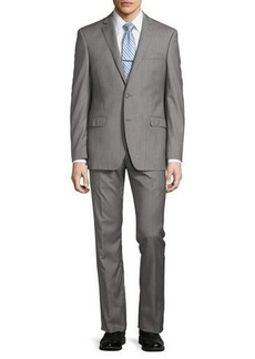 Michael Kors Modern-Fit Solid Wool Two-Piece Suit