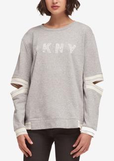 Dkny Split-Sleeve Logo Sweatshirt, Created for Macy's