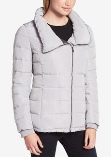 Dkny Sport Asymmetrical Packable Puffer Coat
