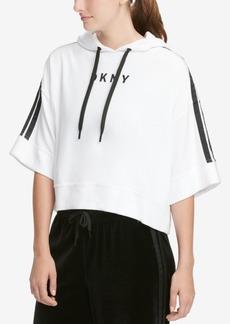 Dkny Sport Bell-Sleeve Cropped Velour Hoodie