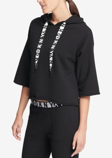 Dkny Sport Cropped Fleece Logo Hoodie, Created for Macy's