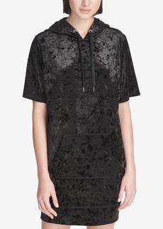 Dkny Sport Crushed Velvet Hoodie Dress, Created for Macy's
