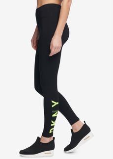 Dkny Sport High-Rise Logo Ankle Leggings, Created for Macy's