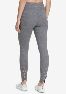 Dkny Sport High-Waist Lace-Up Detail Ankle Leggings