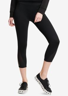 Dkny Sport High-Waist Mesh-Inset Ankle Leggings