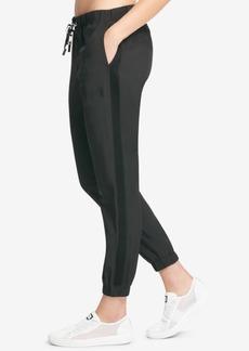 Dkny Sport Logo Mesh-Inset Jogger Pants, Created for Macy's