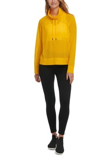 Dkny Sport Mesh Funnel-Neck Top