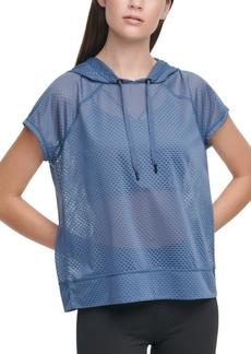 Dkny Sport Mesh Short-Sleeve Hoodie
