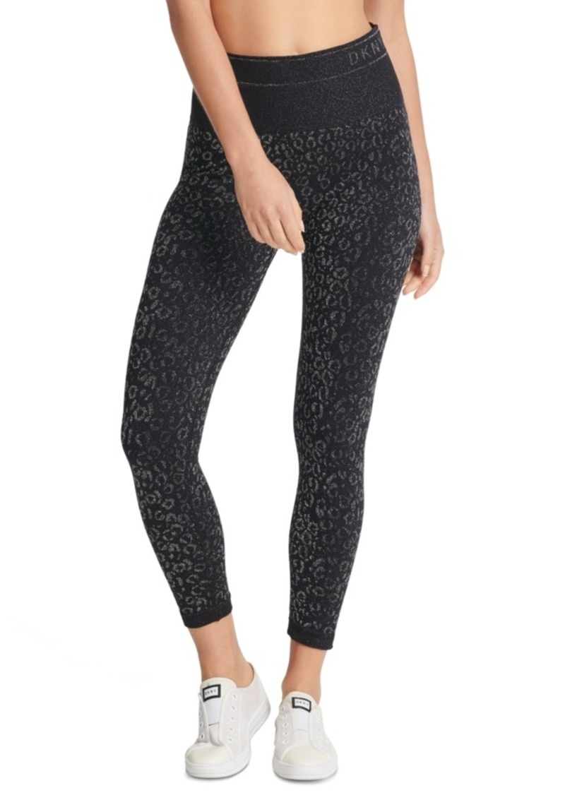 Dkny Sport Metallic-Print High-Waist Leggings