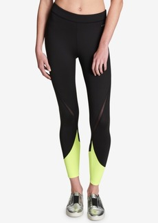 Dkny Sport Mid-Rise Colorblocked Leggings