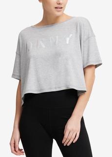 Dkny Sport Overlap-Back Cropped T-Shirt