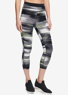 Dkny Sport Printed High-Rise Cropped Leggings, Created for Macy's