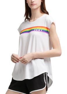 Dkny Sport Rainbow Logo T-Shirt