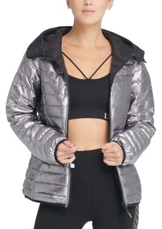 Dkny Sport Reversible Packable Hooded Jacket
