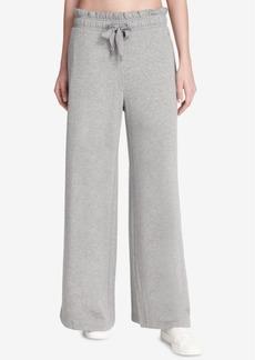 Dkny Sport Ruffled Wide-Leg Pants, Created for Macy's