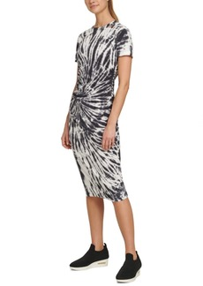 Dkny Sport Tie-Dyed Ruched T-Shirt Dress