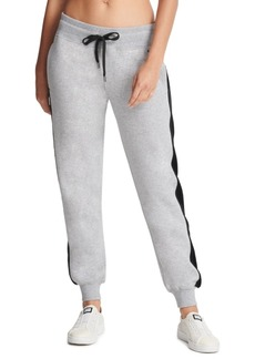 Dkny Sport Velour-Trimmed Fleece Joggers