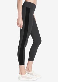 Dkny Sport Velvet-Stripe Ankle Leggings, Created for Macy's