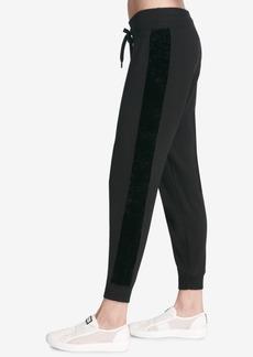 Dkny Sport Velvet-Stripe Joggers, Created for Macy's
