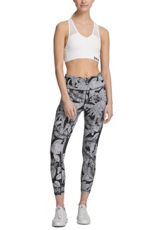 Dkny Sport Zebra-Print High-Waist Cropped Leggings