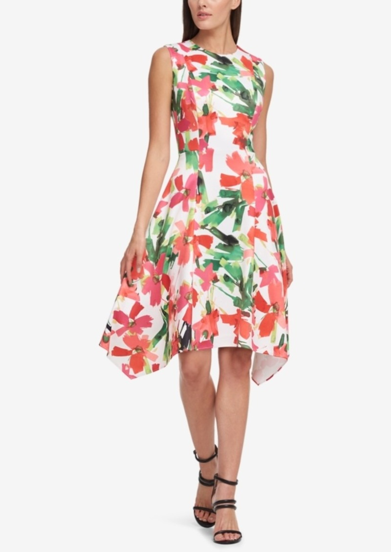 Dkny Dkny Stamped Floral Scuba A Line Dress Created For