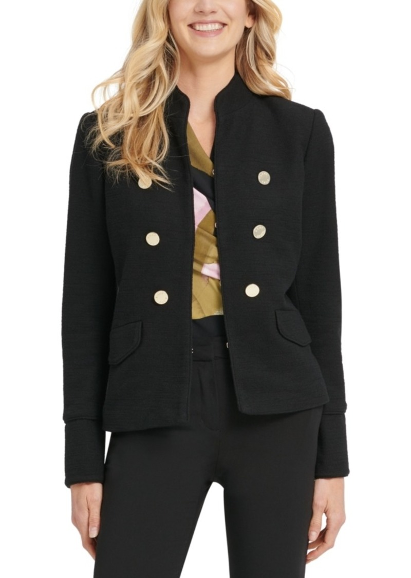 Dkny Stand-Collar Double-Breasted Military Jacket