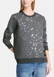 Dkny Star-Embellished Crewneck Top, Created for Macy's