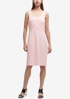 Dkny Stitch-Detail Sheath Dress, Created for Macy's