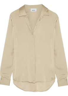 DKNY Stretch-silk crepe de chine blouse
