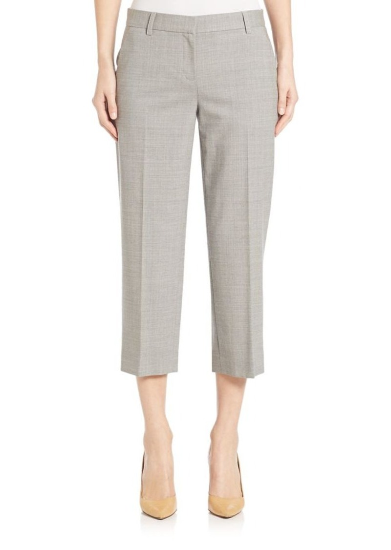 DKNY Stretch Wool Cropped Pants