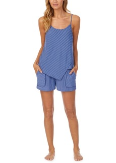 Dkny Stripe Cami & Shorts Pajama Set