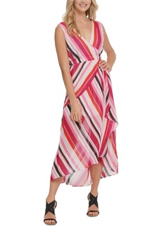 Dkny Striped High-Low Maxi Dress