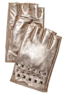 Dkny Studded Leather Fingerless Gloves, Created for Macy's