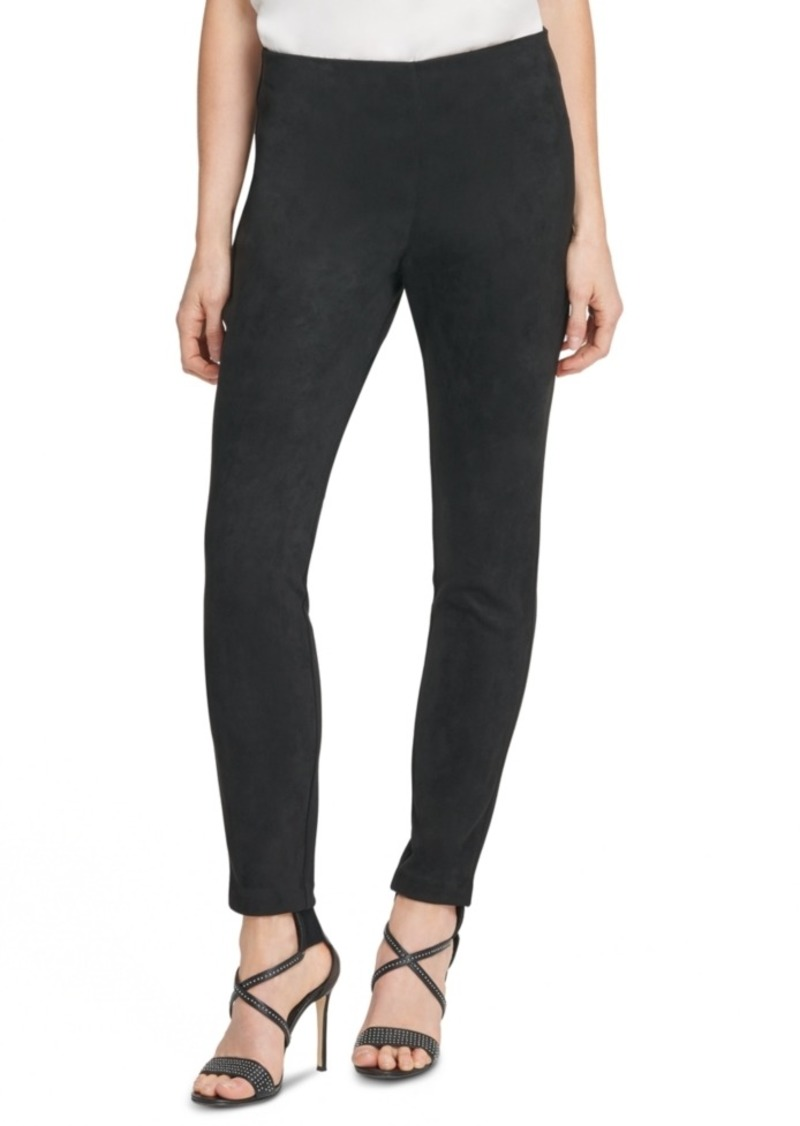 Dkny Suede Ponte Skinny Pull-On Pants