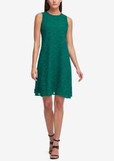 Dkny Textured Chiffon Trapeze Dress, Created for Macy's