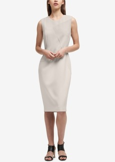 Dkny Textured Contrast-Panel Sheath Dress, Created for Macy's
