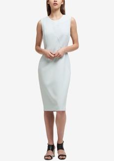 Dkny Textured Contrast-Panel Sheath Dress, Created for Macy's