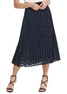 Dkny Textured Pleated Skirt
