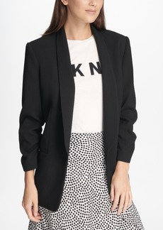Dkny Textured Ruched-Sleeve Blazer