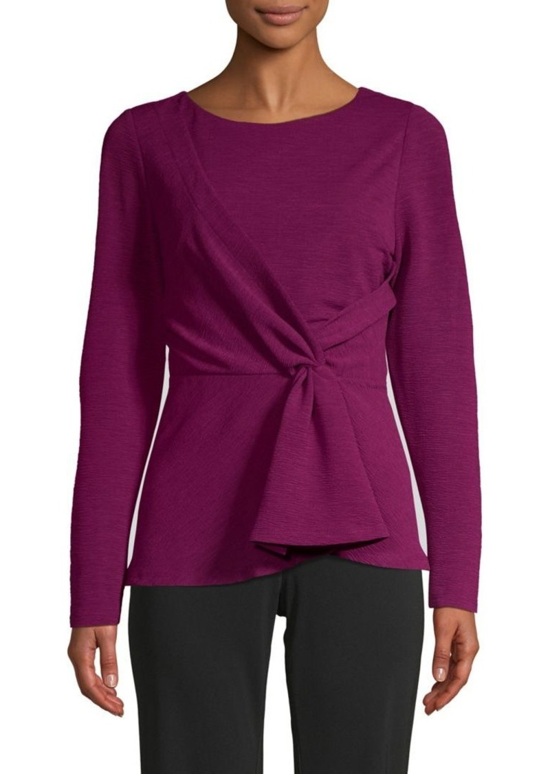 DKNY Donna Karan New York Textured Tie-Front Top